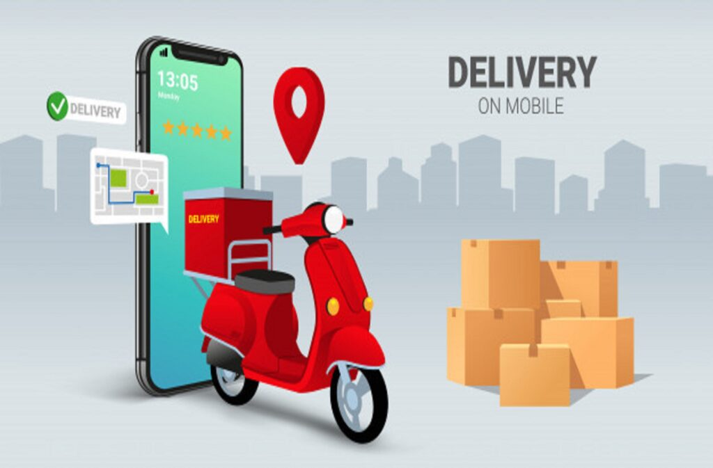 fast-delivery-by-scooter-mobile-e-commerce-concept-online-food-pizza-order-packaging-box-infographic_131114-3